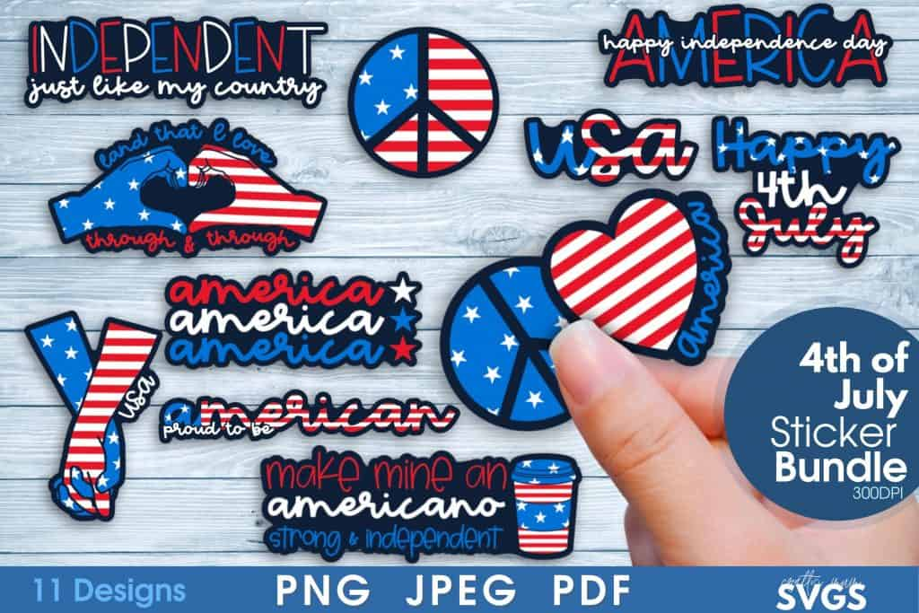 4th of July Day stickers