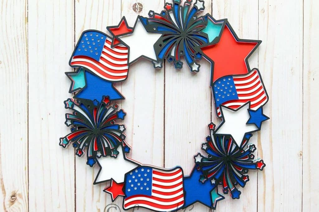 Independence wreath- fourth of July day wreath