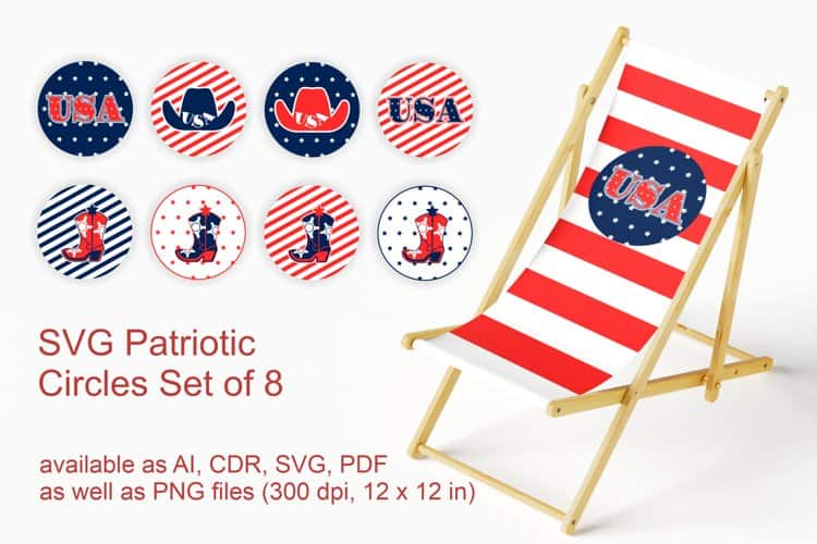 8 Patriotic Circles for those DIY 4th of July Day Projects
