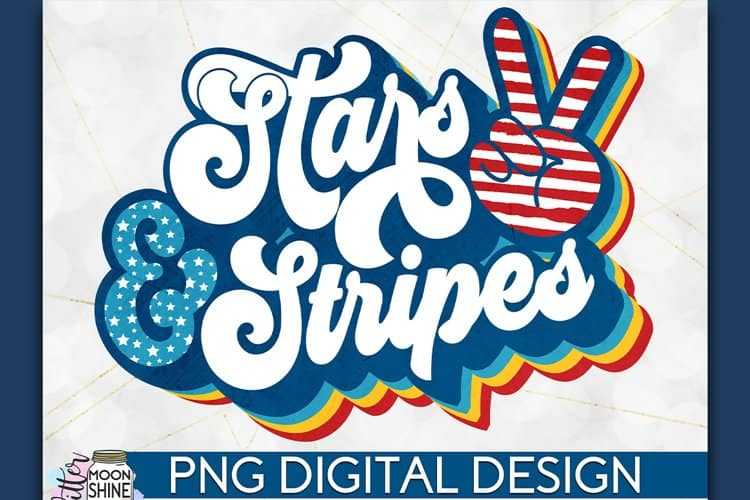Stars and Stripes Peace Sign SVG for DIY crafting Projects