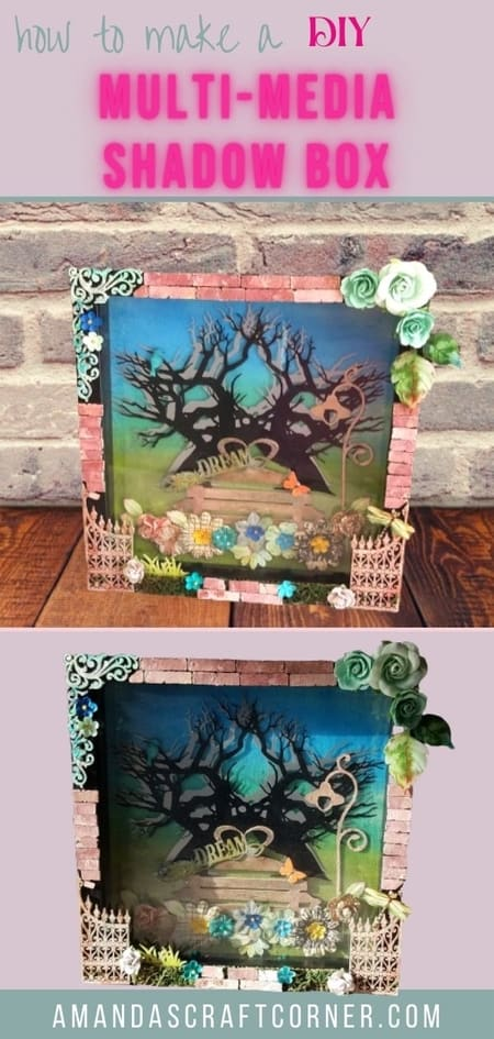 Lets get our creative juices flowing and start making this beautiful DIY Multi-Media Shadow Box