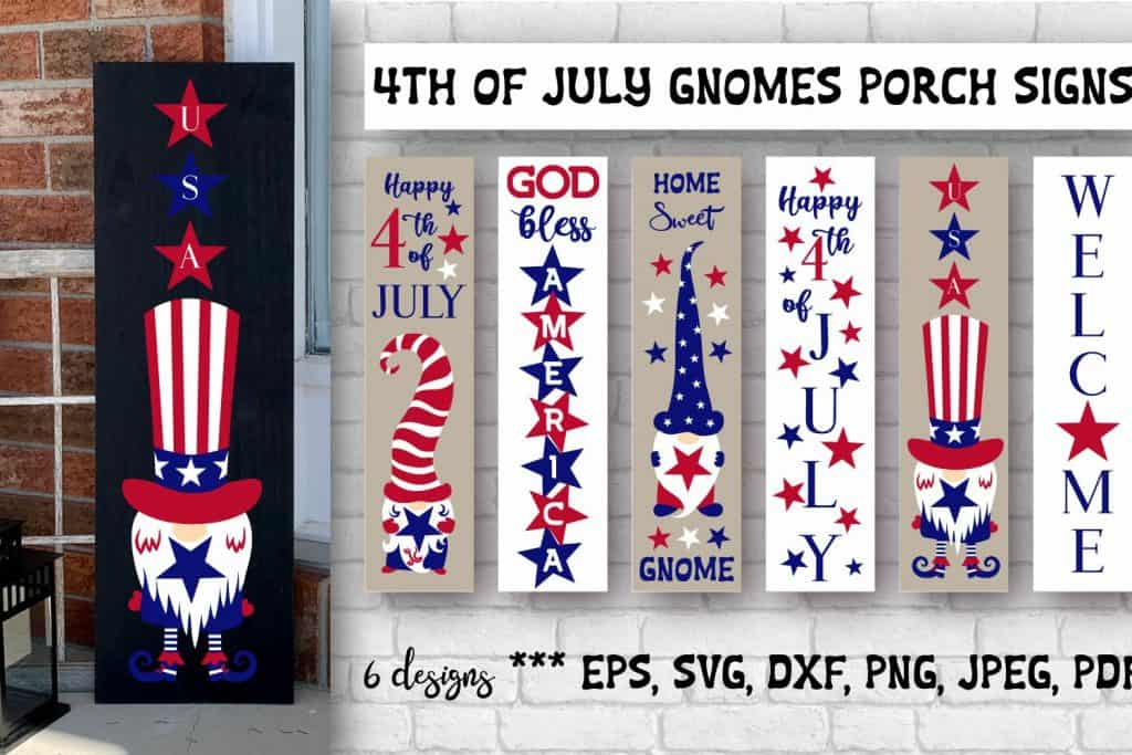 Outdoor signs for the 4th of July- SVGS