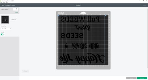 Make it screen-Free SVG All we have to do here is make sure you toggle the mirror icon on  and we will be ready to cut this beauty!