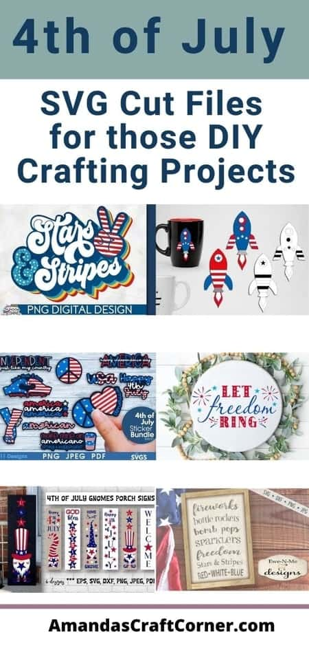 DIY Crafting Projects- Creating those amazing 4th of July Day Projects with these amazing SVG Cut files.