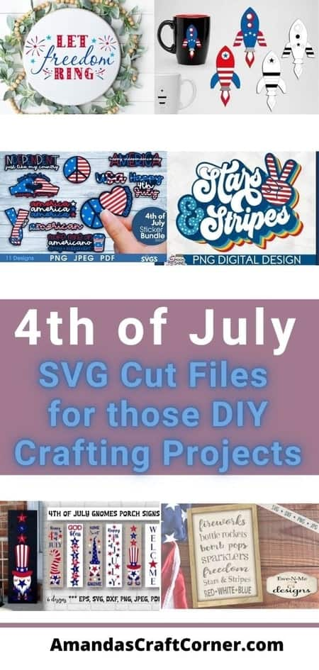 4th of July Day SVG Cut files for those crafting projects