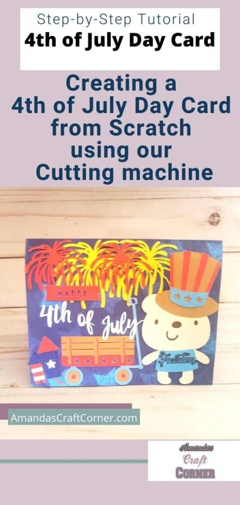 Step by Step Fourth (4th) Of July Day Card  Tutorial
