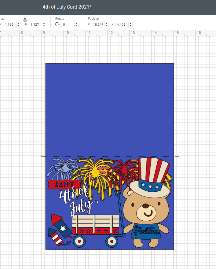 Adding the Fire Crackers and showing you what our Fourth (4th) Of July Day Card should look like now.