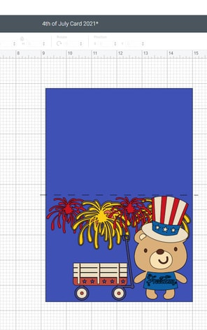 Just added our fireworks to our Fourth (4th) Of July Day card, sized them, duplicated them, and positioned them