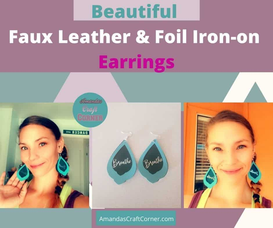 How to make Beautiful Faux Leather and Foil Iron-on Earrings using our cricut maker