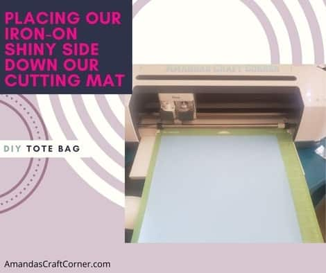 How to place the iron-on (HTV) on your cutting mat