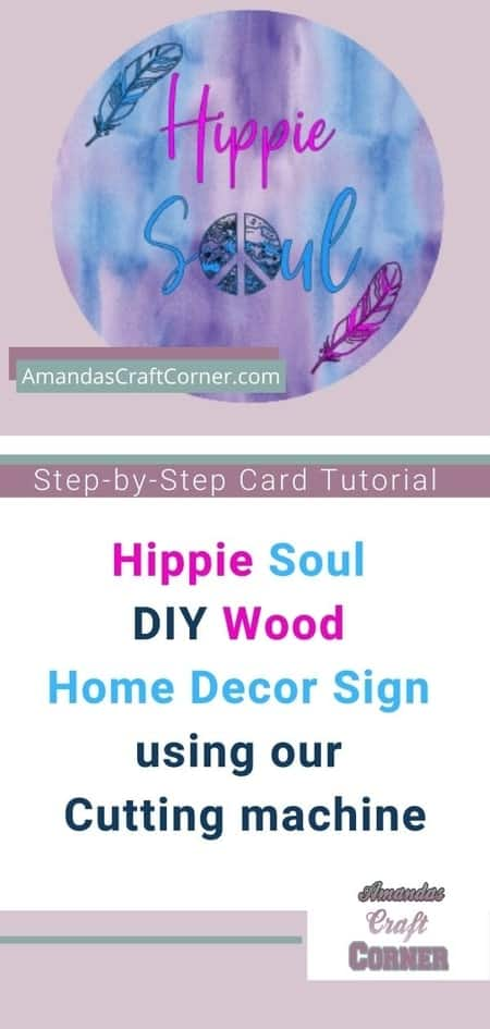Step By step Tutorial- Hippie Soul DIY Wood Home Decor Sign using our cutting machine