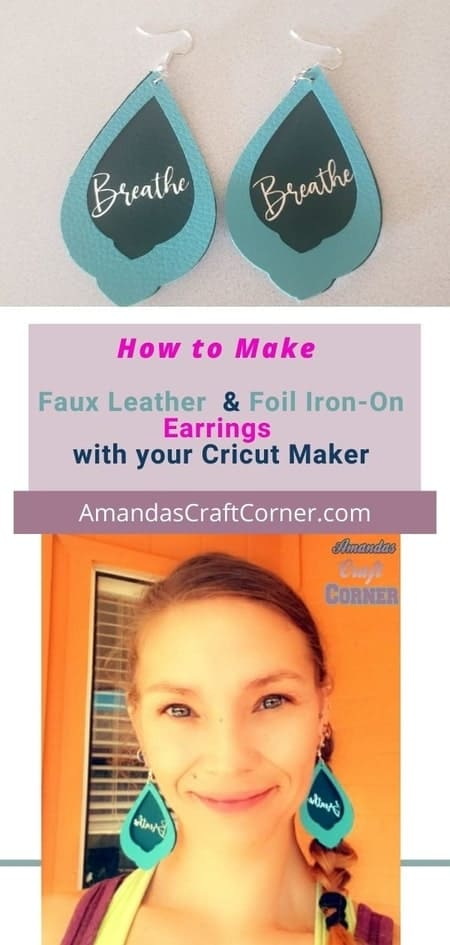 How to make Faux Leather and Foil Iron on Earrings using our Cricut Maker
