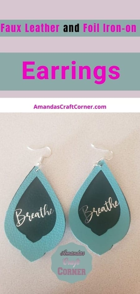 Step by step Tutorial on how to make Faux Leather & Foil Iron-On Earrings using our cricut maker.