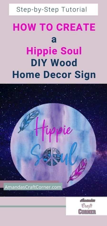 How to create a Hippie Soul DIY Wood Home Decor Sign using our cutting machine and Iron-on which is HTV