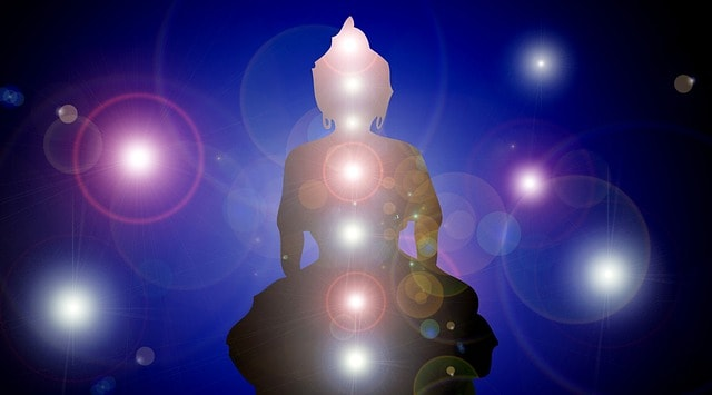 """What is a Chakra...  In Sanskrit, the word """"Chakra"""" means  """"disc"""" or """"wheel"""" and refers to the invisible energy seats/centers in your body. The chakras are wheels of spinning and rotating energy (life force/ prana) that moves inside of you and each chakra corresponds to certain nerve bundles and major organs."""
